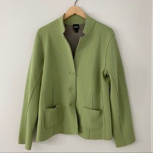 Eileen Fisher Merino Wool Button Jacket